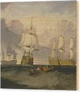 The Victory Returning From Trafalgar Wood Print