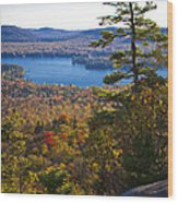 The View From Bald Mountain - Old Forge New York Wood Print