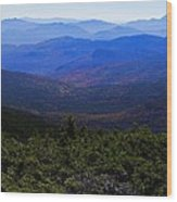 The View From Mt Washington Wood Print