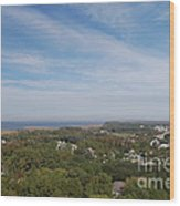 The View From The Top Of Currituck Beach Lighthouse  Wood Print
