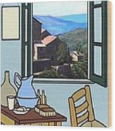 The View From Vincent's Room. Sold Wood Print by Kenneth North