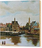The View Of Delft Wood Print