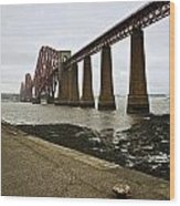 The View Of The Forth Bridge Wood Print