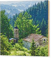 The Village Church - Impressions Of Mountains And Forests Wood Print