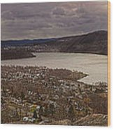 The Village Of Cold Spring And The Hudson River Wood Print
