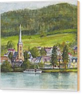 The Village Of Einruhr In Germany Wood Print