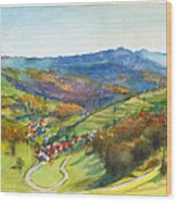 The Village Of Wieden In The Black Forest Wood Print