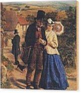 The Village Postman Wood Print