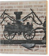 The Vintage Fireman Wood Print