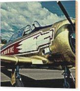 The Vintage North American T-6 Texan Wood Print