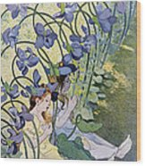 The Violets Lively Flowers Wood Print