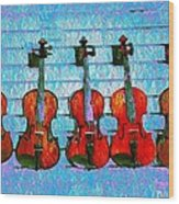 The Violin Store Wood Print