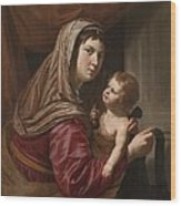 The Virgin And Child Wood Print by Jan van Bijlert or Bylert