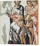 The Virgin And Child With Saint John And Angels Wood Print
