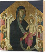The Virgin And Child With Six Angels Wood Print