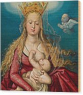 The Virgin As Queen Of Heaven Suckling The Infant Christ Wood Print