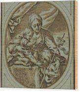 The Virgin, Child Wood Print