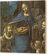 The Virgin Of The Rocks Wood Print
