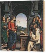 The Vision Of St Bernard Wood Print