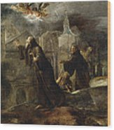 The Vision Of St Francis Of Paola Wood Print