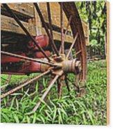 The Wagon Wheel Wood Print