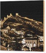 The Walls Of Albarracin In The Summer Night Spain Wood Print