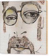 The Walrus As John Lennon Wood Print by Mark M  Mellon