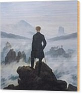 The Wanderer Above The Sea Wood Print