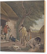 The Warrener, Engraved By William Ward 1766-1826, Pub. By H. Morland, 1806 Mezzotint Engraving Wood Print