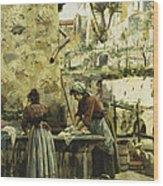 The Washerwomen Wood Print