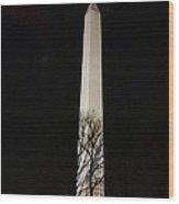 The Washington Monument At Night Wood Print