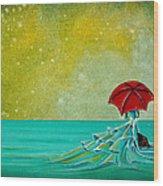 The Watchful Seas Wood Print