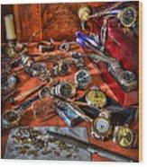 The Watchmaker's Desk Wood Print