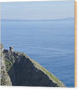 The Watchtower At Slieve League Wood Print