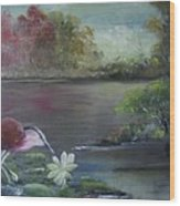 The Water Bird Wood Print