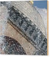The Water Droplets From The Fountain At The Hagia Sophia Turkey Wood Print