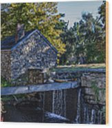 The Water Mill Wood Print