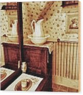 The Water Pitcher And Wash Basin Wood Print