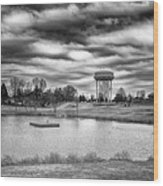 The Water Tower Wood Print