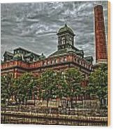 The Water Works Wood Print by Wayne Gill