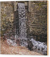 The Waterfall At Hagy's Mill Wood Print