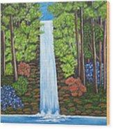The Waterfall Wood Print