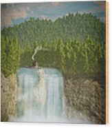 The Waterfall... Wood Print