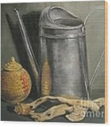 The Watering Can Wood Print