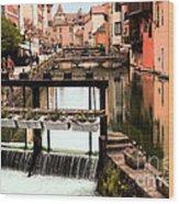 The Waterways Of  Old Annecy Wood Print