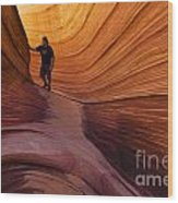 The Wave Beauty Of Sandstone 1 Wood Print