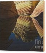 The Wave Reflected Beauty 3 Wood Print