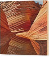 The Wave With Reflection Wood Print