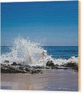 The Waves Of Carpinteria Wood Print