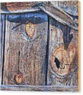 The Weathered Abstract From A Barn Door Wood Print